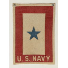 WWI SON-IN-SERVICE BANNER FOR A U.S. NAVYMAN