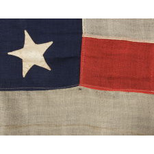 34 STAR CIVIL WAR RECRUITING FLAG MADE UNDER MILITARY CONTRACT BY JAMES SEBRING IN NEW YORK CITY, 1861 OR 1862