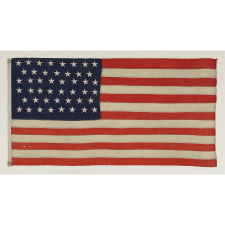 46 STARS ON A FLAG IN A SMALL SCALE FOR THE PERIOD, 1907-1912, OKLAHOMA STATEHOOD