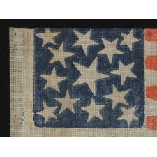 13 STARS, 1861-1876 (CIVIL WAR – CENTENNIAL), FEATURING THREE SIZES OF STARS IN A MEDALLION PATTERN