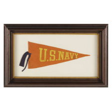U.S. NAVY PENNANT WITH UNUSUAL COLOR FORMAT, ca 1910-20