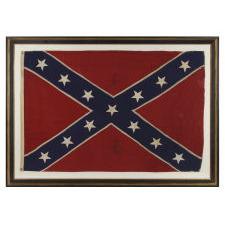 "CONFEDERATE SOUTHERN CROSS NAVY JACK / ""BATTLE FLAG"", MADE BY COPELAND, WASHINGTON, D.C., CIRCA 1895-1920's"