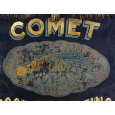 SILK BANNER WITH GILDED AND HAND-PAINTED LETTERING AND BULLION TRIM, MADE FOR THE COMET SOCIAL & OUTING CLUB IN SAN FRANCISCO, CALIFORNIA, 1912