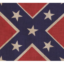 CONFEDERATE PARADE FLAG IN THE SOUTHERN CROSS / BATTLE FLAG FORMAT, REUNION PERIOD, ca 1920-30