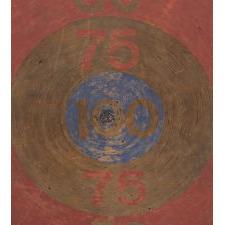 RED, WHITE & BLUE DARTBOARD PATERSON, NJ, WWII ERA