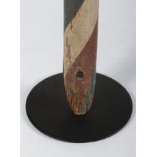 MID-19TH CENTURY BARBER POLE WITH INTERESTING FORM AND EXCELLENT PAINT SURFACE, CA 1840-1860