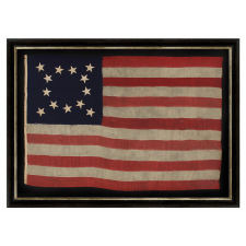 AN EXCEPTIONAL, PRE-CIVIL WAR, 13 STAR FLAG WITH A BEAUTIFUL MEDALLION CONFIGURATION OF STARS THAT IS UNIQUE AMONG ITS KNOWN EARLY COUNTERPARTS, 1830-1850