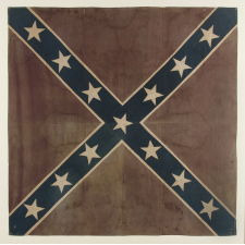 "CONFEDERATE SOUTHERN CROSS ""BATTLE FLAG"", AN UNUSUAL AND GRAPHICALLY PLEASING, REUNION PERIOD EXAMPLE, CA 1884-1900"