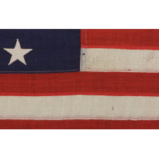 15 STARS AND 15 STRIPES, A COPY OF THE STAR SPANGLED BANNER, THE FAMOUS FLAG ON WHICH FRANCIS SCOTT KEY GAZED IN BALTIMORE HARBOR WHILE WRITING THE WORDS TO THE SONG OF THE SAME NAME; THIS EXAMPLE MADE BY ANNIN & COMPANY IN NEW YORK CITY, CA 1912-15: