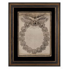 EXTREMELY EARLY COPY OF THE DECLARATION OF INDEPENDENCE ON SILK, DESIGNED AFTER WOODRUFF, ENGRAVED BY H. BRUNET ET CIE, LYON, FRANCE, CA 1820-25