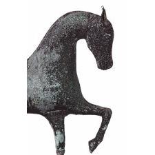 PRANCING HORSE WEATHERVANE, ATTRIBUTED TO JEWEL & CO. WALTHAM, MASSACHUSETTS, CA 1860