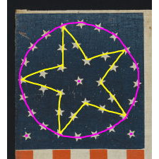 "38 STARS IN AN EXCEPTIONALLY RARE ""GREAT-STAR-IN-A-WREATH"" CONFIGURATION, 1876-1889, COLORADO STATEHOOD"