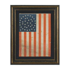 """38 STARS IN AN EXCEPTIONALLY RARE """"GREAT-STAR-IN-A-WREATH"""" CONFIGURATION, 1876-1889, COLORADO STATEHOOD"""