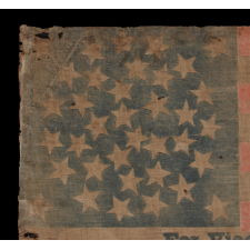 "36 STAR PARADE FLAG, MADE FOR THE 1868 PRESIDENTIAL CAMPAIGN OF GENERAL ULYSSES S. GRANT, WITH GOOD SCALE, LARGE TEXT, AND WITH A RARE ""GREAT-STAR-IN-A-WREATH"" CONFIGURATION"
