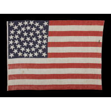 45 STARS ON AN ANTIQUE AMERICAN PARADE FLAG WITH A MEDALLION CONFIGURATION A RARE FEATURE IN THIS PERIOD, 1896-1908, UTAH STATEHOOD