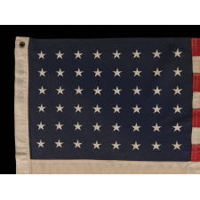 """48 EMBROIDERED STARS, MARKED """"BULL DOG BUNTING"""", MADE BY DETTRA, 1945-1950's"""