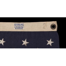 15 STARS AND 15 STRIPES, A COPY OF THE STAR SPANGLED BANNER, THE FAMOUS FLAG, UPON WHICH FRANCIS SCOTT KEY GAZED IN BALTIMORE HARBOR WHILE WRITING THE WORDS TO THE SONG OF THE SAME NAME; THIS EXAMPLE MADE BY ANNIN & COMPANY IN NEW YORK CITY, CA 1912-14