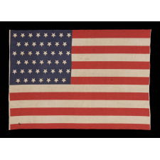 ANTIQUE AMERICAN FLAG WITH 45 UPSIDE-DOWN STARS, 1896-1908, UTAH STATEHOOD, SPANISH-AMERICAN WAR ERA