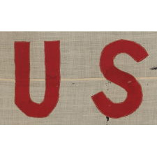 UNITED STATES SHIPPING BOARD FLAG, AN EXTREMELY SCARCE AND BEAUTIFUL, NAUTICAL DESIGN, MADE SOMETIME BETWEEN WWI (U.S. INVOLVEMENT 1917-18) AND 1934