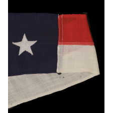 U.S. NAVY COMMISSION PENNANT WITH 13 STARS IN TWO DIFFERENT SIZES, 11-FEET ON THE FLY, SPANISH-AMERICAN WAR - WWI ERA (ca 1898 - 1918)