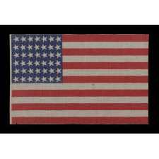 42 CANTED STARS, NEVER AN OFFICIAL STAR COUNT, 1889-1890, WASHINGTON STATEHOOD