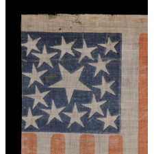 15 STARS, MADE EITHER TO CELEBRATE KENTUCKY STATEHOOD OR TO GLORIFY THE SOUTH, 1863-1865, CIVIL WAR PERIOD, EXTREMELY RARE