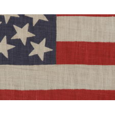 45 STARS ON AN ANTIQUE AMERICAN PARADE FLAG WITH A MEDALLION CONFIGURATION, A RARE FEATURE IN THIS PERIOD, 1896-1908, UTAH STATEHOOD, EX-RICHARD PIERCE COLLECTION