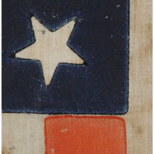 33 STARS IN A MEDALLION CONFIGURATION ON A LARGE SCALE PARADE FLAG, AN EXTREMELY RARE EXAMPLE, OREGON STATEHOOD, 1859-1861