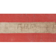 """CIVIL WAR ERA PARADE FLAG WITH 36 STARS IN A SCARCE FORM THAT DISPLAYS A """"U"""" FOR UNION"""