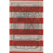 48 STAR AMERICAN PARADE FLAG WITH A RARE, TWO-COLOR OVERPRINT, MADE TO COMMEMORATE THE 75TH ANNIVERSARY OF THE BATTLE OF GETTYSBURG