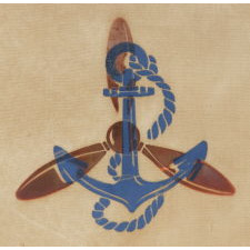SERVING IN THE WAVES: AN EXTREMELY RARE WWII SERVICE BANNER FOR A WOMAN IN THE U.S. NAVY RESERVES