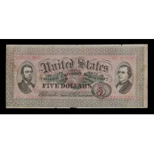 RARE UNITED STATES SANITARY COMMISSION ADVERTISING FLIER, DISTRIBUTED BY J.B. WESTBROOK & CO., NEW YORK CITY, WITH U.S. TREASURY NOTE STYLE IMAGERY FEATURING IMAGES OF ABRAHAM LINCOLN & ANDREW JOHNSON, COMMEMORATING THE 1865 PRESIDENTIAL INAUGURATION