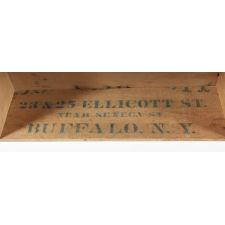 UNUSUAL BLUE-GREY GRAIN BIN WITH THREE DRAWERS, NEW YORK STATE, ca 1865-1885