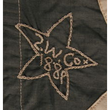 41 STARS IN A LINEAL PATTERN WITH OFFSET STARS THAT CREATE A CROSSHATCH IN THE CORNERS AND CENTER, ONE OF THE RAREST STAR COUNTS AMONG SURVIVING FLAGS OF THE 19TH CENTURY, REFLECTS MONTANA STATEHOOD IN NOVEMBER, 1889, ACCURATE FOR JUST 3 DAYS