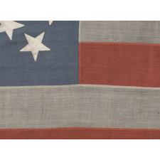 38 STARS IN A DYNAMIC STARBURST CROSS, ONE OF THE MOST SPECTACULAR CONFIGURATIONS IN FLAG COLLECTING, COLORADO STATEHOOD, 1876-1889