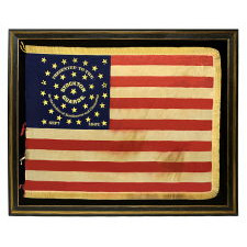 34 STAR, CIVIL WAR PRESENTATION BATTLE FLAG OF THE STOCKTON GUARDS, OF THE 12TH NEW JERSEY VOLUNTEERS